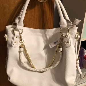 Handbags - White and gold purse